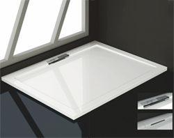 piatto doccia in acrilico con piletta sul bordo esterno ordinabile da houselet