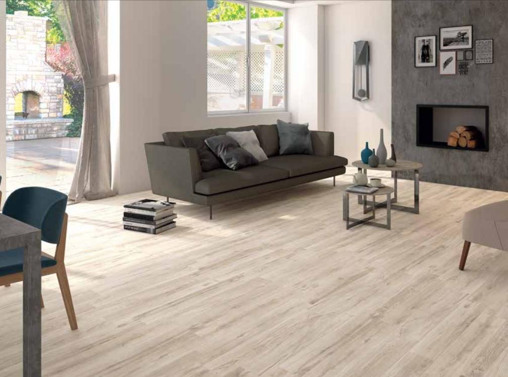 Gres porcellanato effetto legno per un pavimento di design for Gres porcellanato finto legno