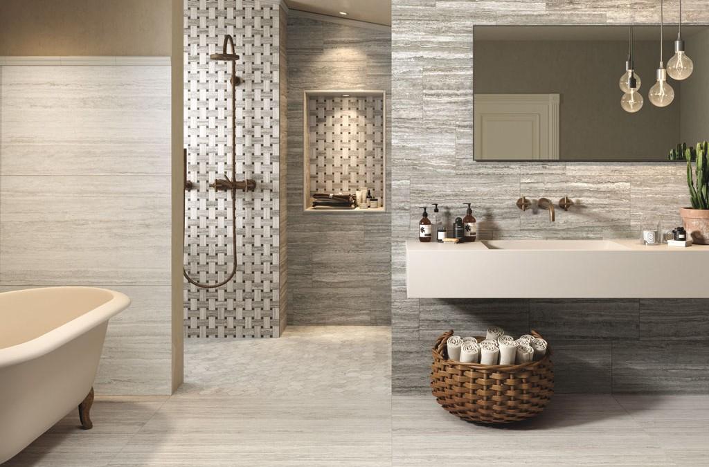 L 39 altezza ideale per il rivestimento delle pareti del bagno houselet - Piastrelle per il bagno moderne ...