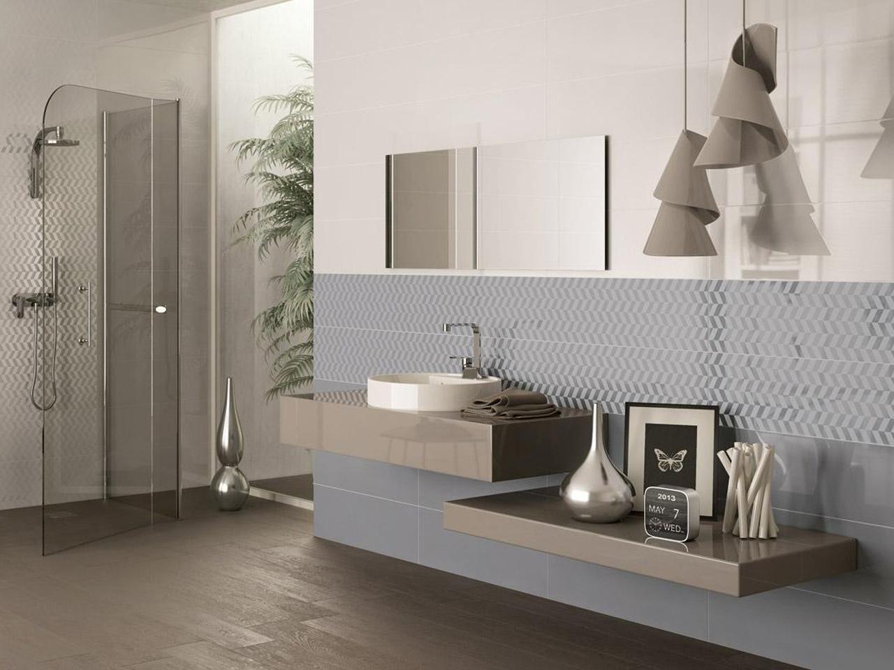 L 39 altezza ideale per il rivestimento delle pareti del bagno houselet - Idee per rivestire un bagno ...