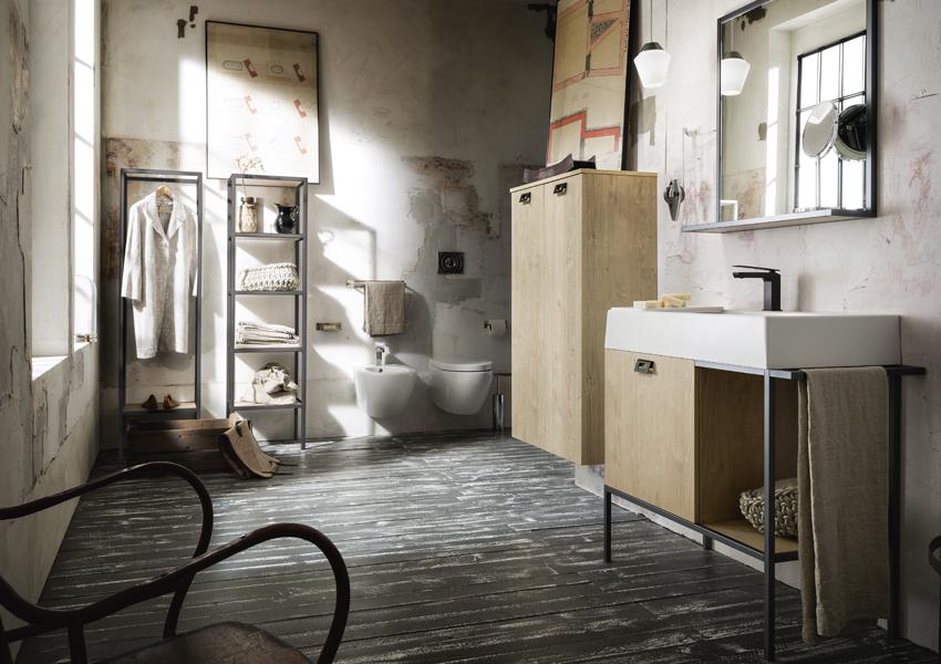 La scelta dei sanitari e dell'arredo bagno in stile urban chic