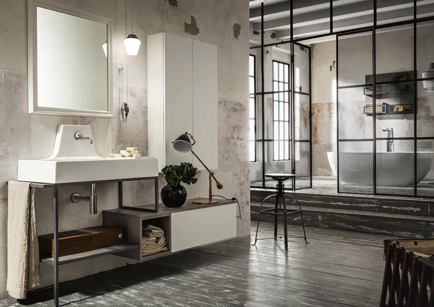 Le caratteristiche del bagno in stile urban chic