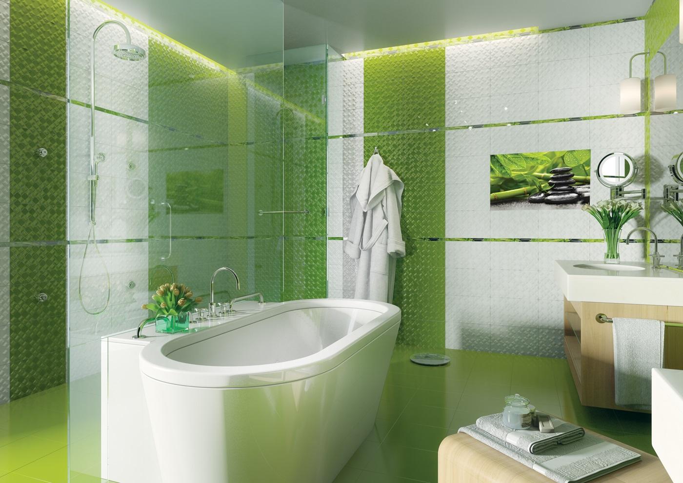 Bagno green per un chiaro richiamo alla natura