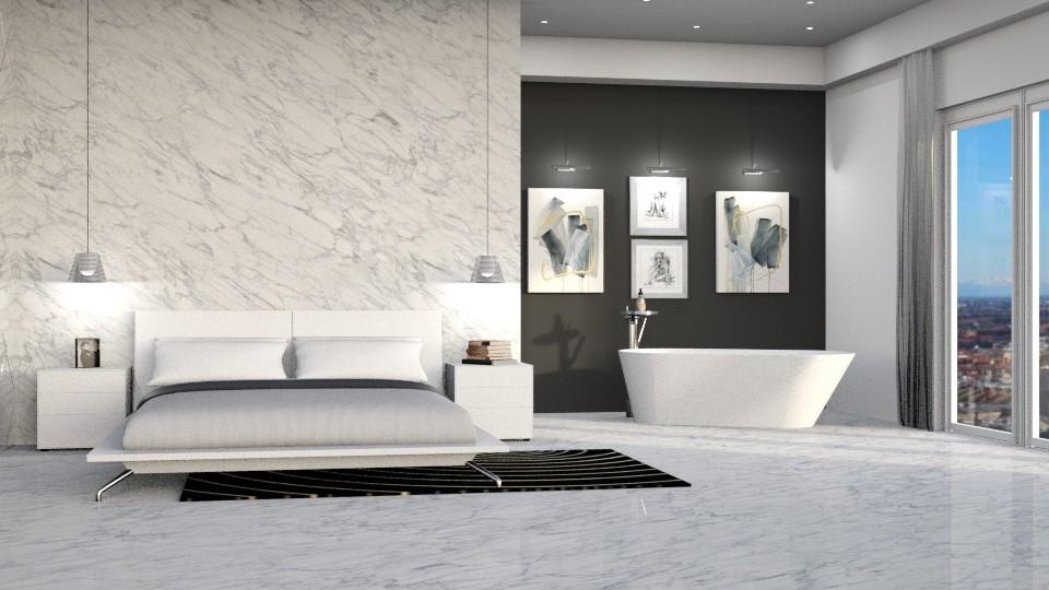 Come realizzare il bagno in camera con vasca freestanding a vista