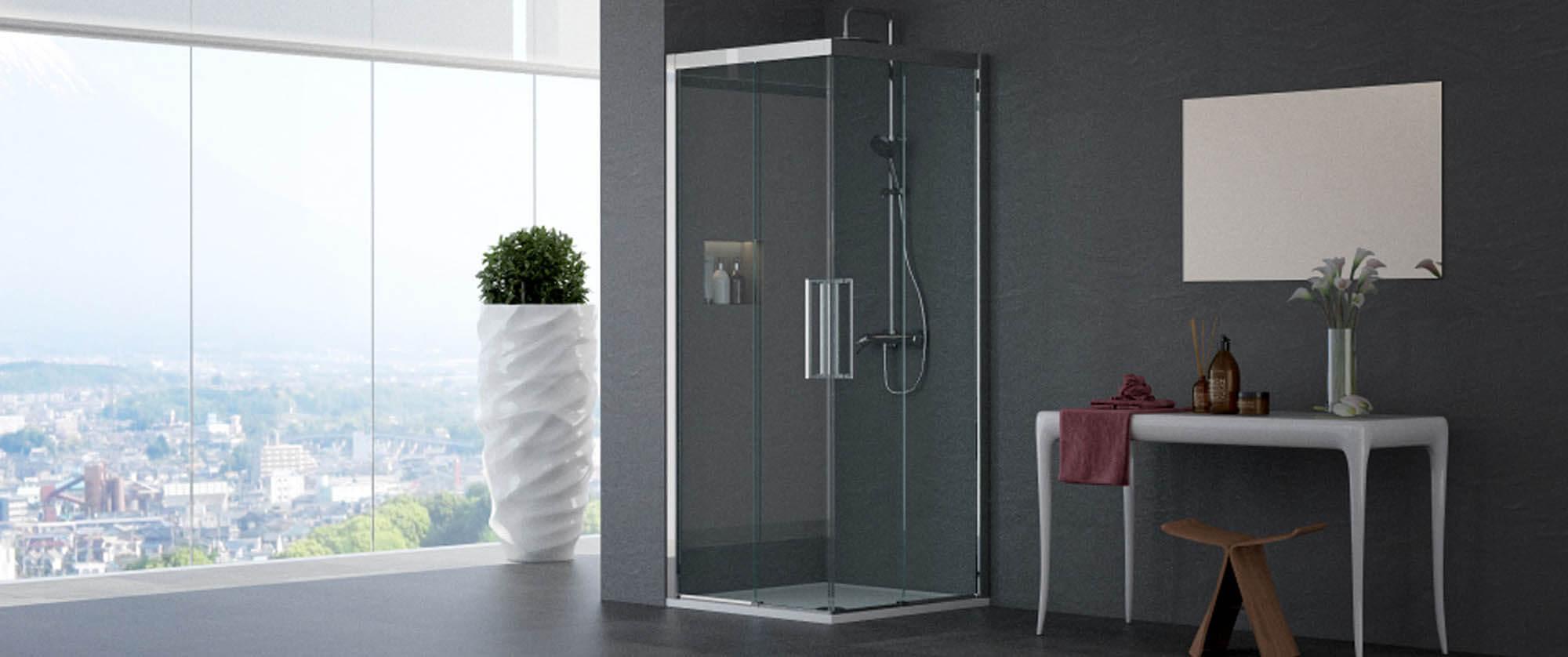 Il box doccia con apertura angolare